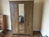 Ikea oak effect triple door wardrobe