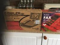 Fax machine paper rolls