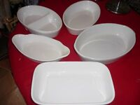 5 piece white ovenware