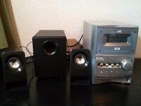 Logitech z213 Speakers + JVC Home Audio System 20£