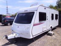 Elddis Xplore 544 FIXED BED 4 Berth Touring Caravan.
