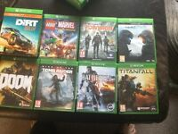 New Xbox one games for sale from £14 each upto £27 each ask for prices in games