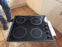 Hotpoint electric ceramic hob, good working order but with minor marks on surface