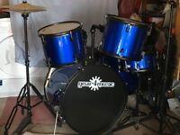 BDK-1 Full Size Starter Drum Kit by Gear4music Blue for Sale
