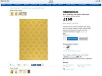 IKEA Stockholm yellow wool rug - nearly new.