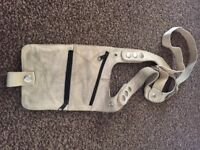 Real leather cream holster bag