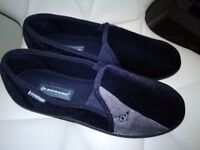 Mens Dunlop Velour Two-Tone Twin Gusset Comfy Warm Full Slippers Size 11 UK