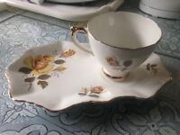 DELPHINE- VINTAGE - TEACUP & (MATCHING SET ) PLATE - AS NEW - IMMACULATE