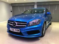 MERCEDES-BENZ A CLASS 2.1 A200 CDI AMG SPORT 5d AUTO 136 BHP FREE DELIVERY TO YOUR DOOR (blue) 2015