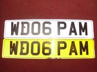 NUMBER PLATE WD 06 PAM NICE CHRISTMAS PRESENT FOR THE PAM IN YOUR LIFE ALL FEES PAID ON RETENTION