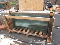 large sheets of greenhouse glass