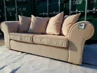 NEW Ex display Cream Sofa Bed in Cream with 4 Cushions + Mattress DELIVERY AVAILABLE