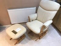 Dutailier Nursing Chair with matching Footstool