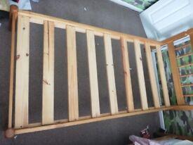Single Wooden Bedframe