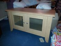 TV stand entertainment unit cabinet for sale wood effect beech colour