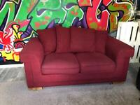 2 seater Red Sofa