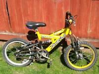 """Full suspension 16"""" kids bike"""