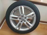 "Genuine Audi A6 S Line 18"" Alloy Wheel And Bridgestone Tyre Like New"