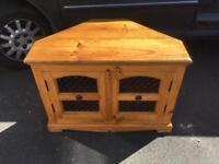 Solid pine corner tv stand