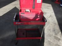 Snap on tool trolly and Clarke toolbox