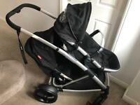 Phil and Ted's double pram