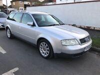 Audi A6 2.4 SE 2393cc Petrol Automatic 5 door estate Y Reg 08/06/2001 Silver