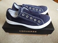 Pair of boys blue Converse All Star slip ons - Size 2