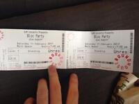 Bloc Party tickets x 2 roundhouse 11th february