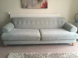 Duck egg 3 seater sofa