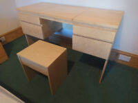 Dressing Table / Desk with Stool and Mirror