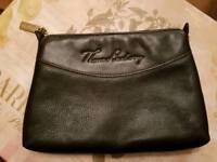 Thomas Burberry Black Leather Bag