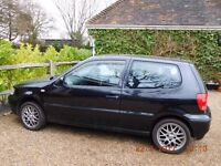 VW POLO S 1.4 . BLACK .WITH SUNROOF, EXCELLENT CONDITION