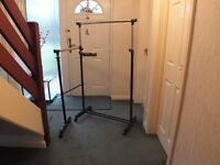 HOME Clothes Rail with Lower Swing Out Rail - Black