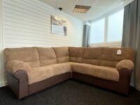 SOFA SALE - Brand New Corner Sofa - Brown Fabric