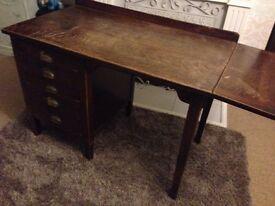 Desk Antique rare George V government desk 1920 solid oak