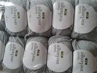 x30 DK Wool/Acrylic Grey Yarn (900g in total)