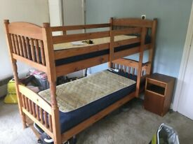 Bunkbeds with mattresses