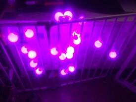 LED pink bulb lights