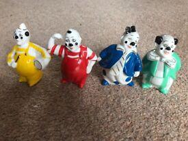 Vintage Alfretto Porcelain clowns, unique set of 4