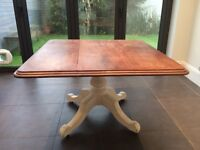 Stylish vintage-style square dining room table