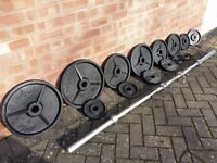 CAST IRON OLYMPIC WEIGHTS SET