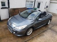 2007 Peugeot 307 2.0 HDI 307cc * Convertible * Diesel * FULL MOT 2019 * LEATHER * ONLY 71K MILES