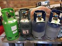 4 x empty gas cylinders