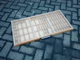 Vintage solid wood printers drawer tray