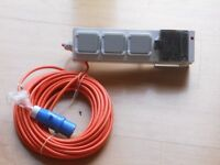 Camping mobile mains supply unit