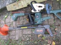 6 hedge trimmers for parts /repair? + 1 brand new one!