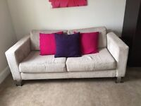 Comfy, neutral, 3 seater sofa, £50
