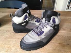Jordan Spizike charcoal ink Winterized boots.
