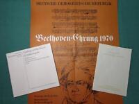 DDR Beethoven-Ehrung 1970, Plakat, Konstituierung, Verzeichnis Berlin - Prenzlauer Berg Vorschau