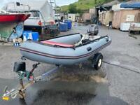 Avon rib boat 4m